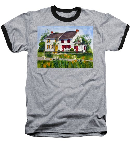 John Abbott House Baseball T-Shirt by Clara Sue Beym