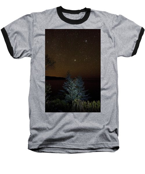 Baseball T-Shirt featuring the photograph Jupiter  Over Otter Point 3 by Brent L Ander