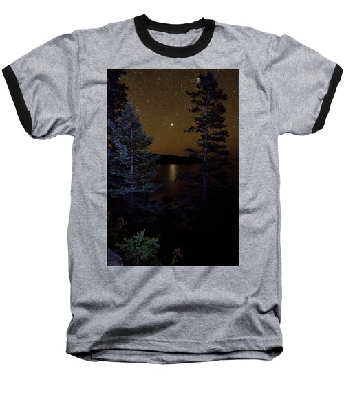 Baseball T-Shirt featuring the photograph Jupiter Rising Over Otter Point by Brent L Ander