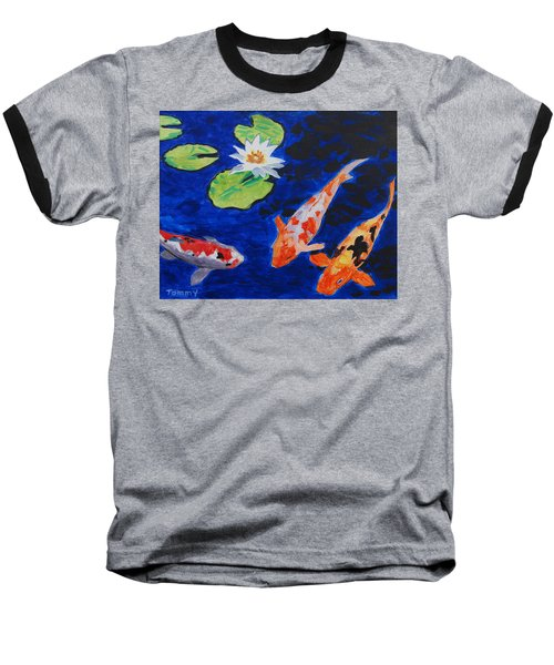 Just Being Koi Baseball T-Shirt