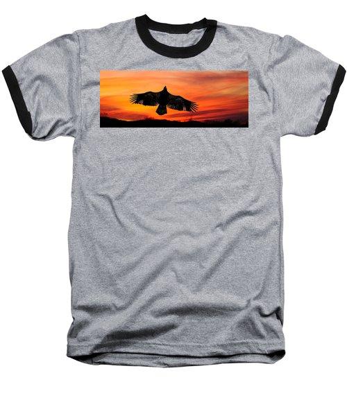 Baseball T-Shirt featuring the photograph Juvenile Sunset  by Randall Branham