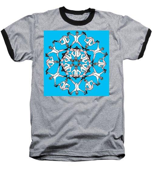 Baseball T-Shirt featuring the drawing Kaleidoscoot by R  Allen Swezey