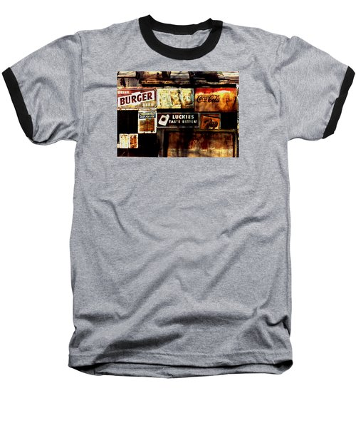 Baseball T-Shirt featuring the photograph Kentucky Shed Ad Signs by Tom Wurl