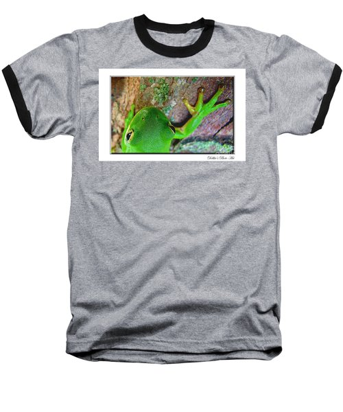 Baseball T-Shirt featuring the photograph Kermit's Kuzin by Debbie Portwood