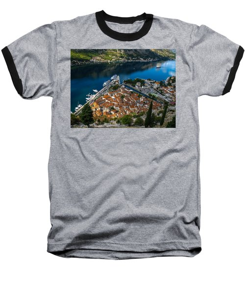 Baseball T-Shirt featuring the photograph Kotor Montenegro by David Gleeson