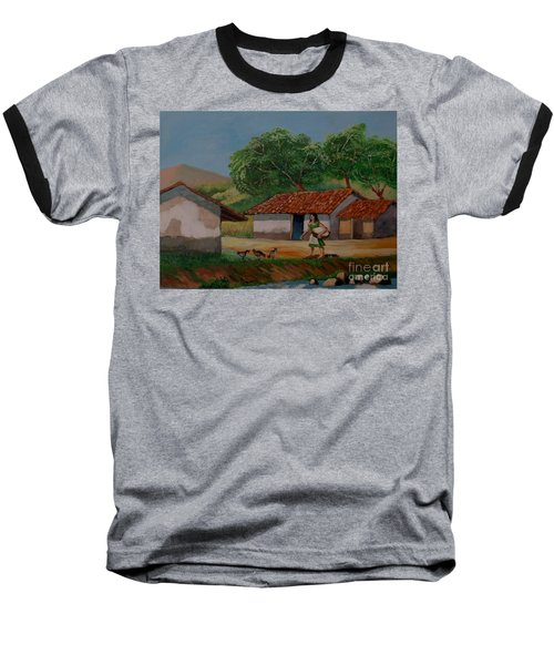 La Dama Del Rio Baseball T-Shirt