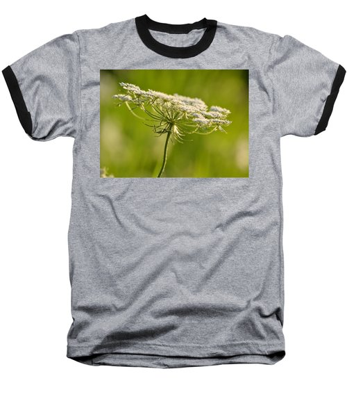Lacy White Flower Baseball T-Shirt