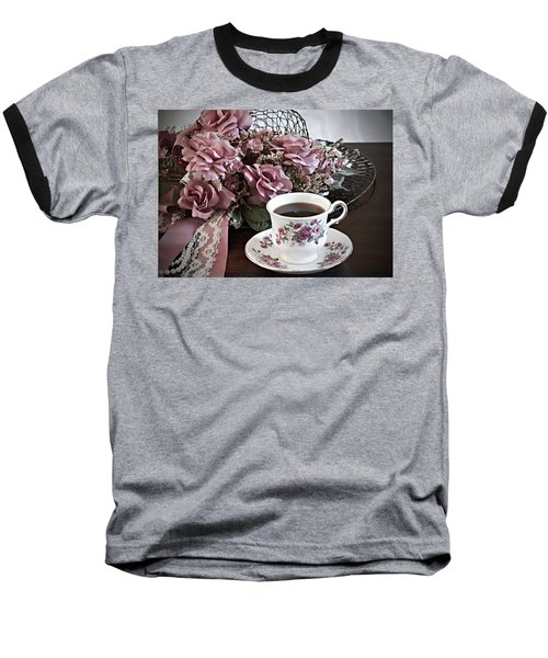 Baseball T-Shirt featuring the painting Ladies Tea Time by Sherry Hallemeier