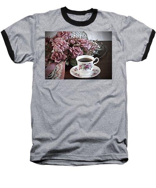 Ladies Tea Time Baseball T-Shirt