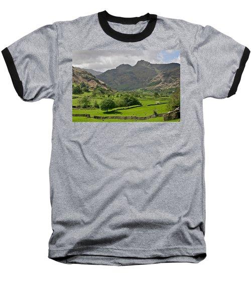 Lake District England Baseball T-Shirt