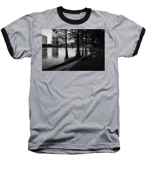 Baseball T-Shirt featuring the photograph Lake Eola Water Edge by Lynn Palmer