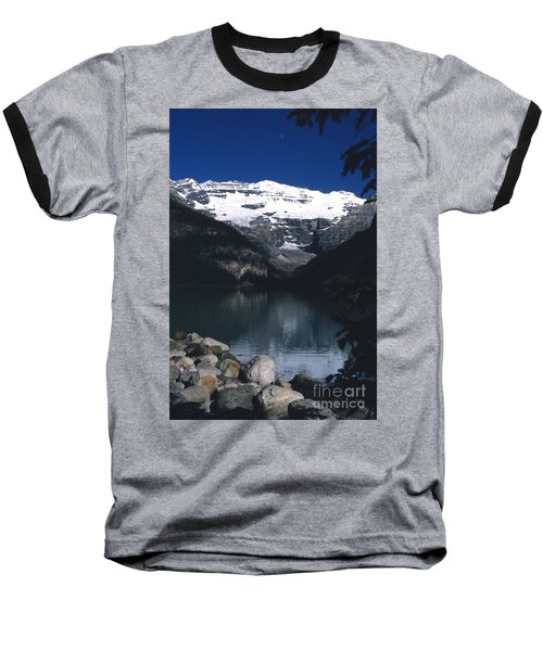 Baseball T-Shirt featuring the photograph Lake Louise II by Sharon Elliott