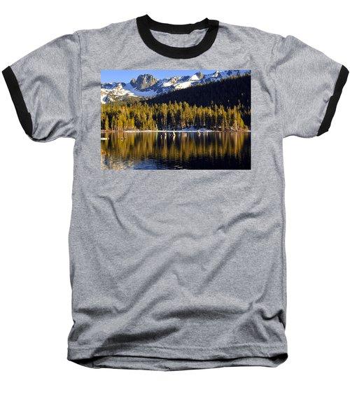 Lake Mary Reflections Baseball T-Shirt by Lynn Bauer