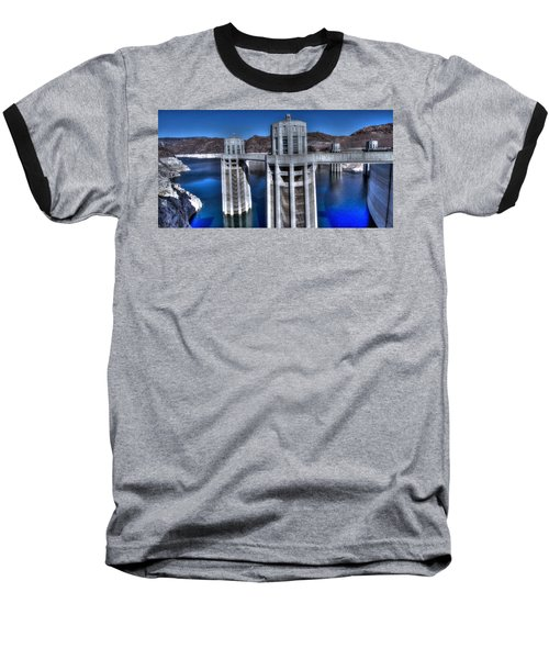 Lake Mead Hoover Dam Baseball T-Shirt by Jonathan Davison