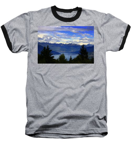 Lake Of Como View Baseball T-Shirt