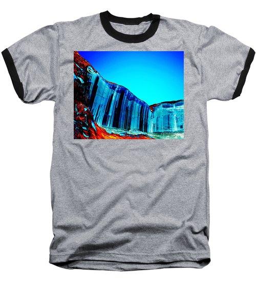Lake Powell Blue Ice Baseball T-Shirt by Rebecca Margraf