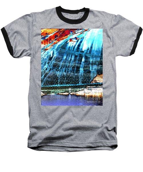 Lake Powell Reflection Baseball T-Shirt by Rebecca Margraf
