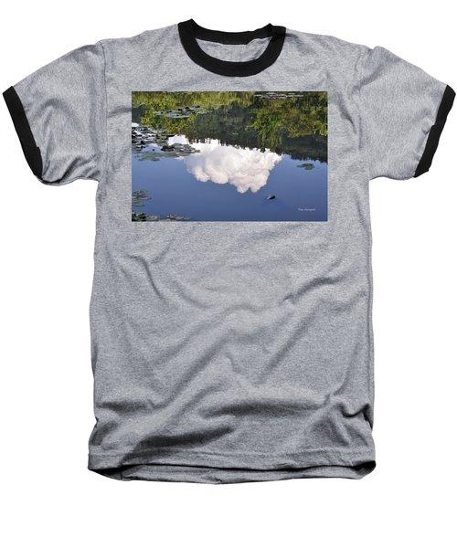 Lake Reflection Baseball T-Shirt by Kay Lovingood