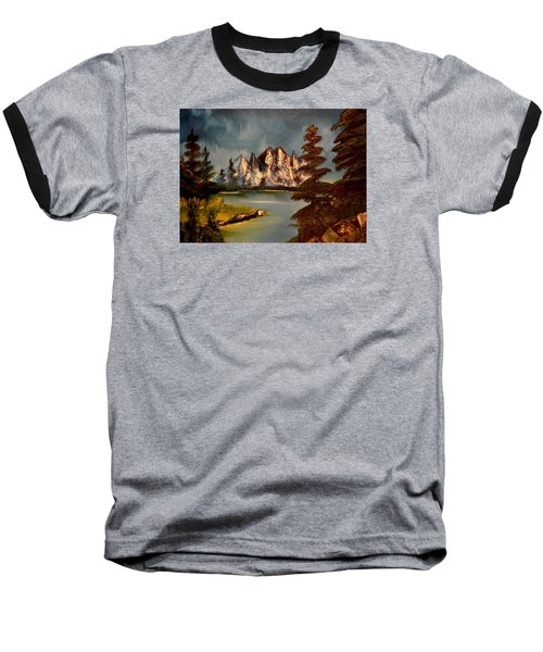 Baseball T-Shirt featuring the painting Lakeview by Maria Urso