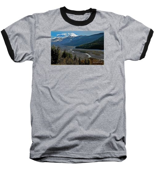 Landscape Of Mount St. Helens Volcano Washington State Art Prints Baseball T-Shirt by Valerie Garner