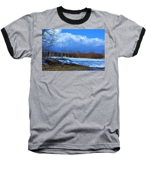 Baseball T-Shirt featuring the photograph Landscape  Snow Scene by Johanna Bruwer