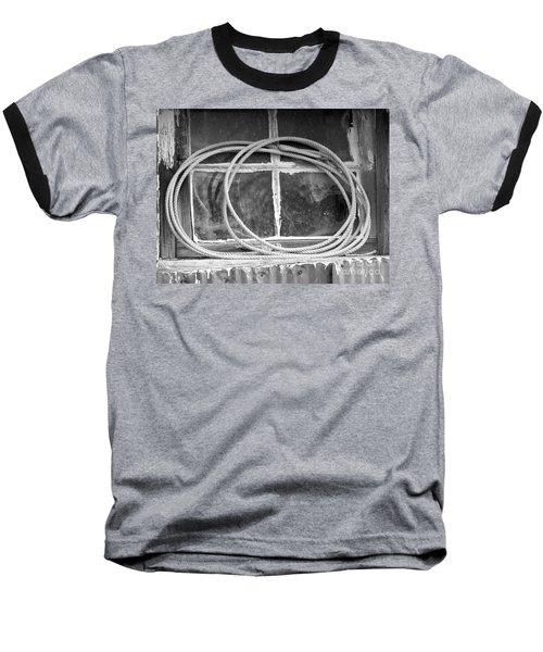 Baseball T-Shirt featuring the photograph Lasso In The Window  by Deniece Platt