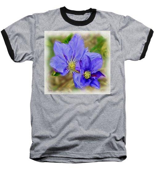 Lavendar Blue Baseball T-Shirt