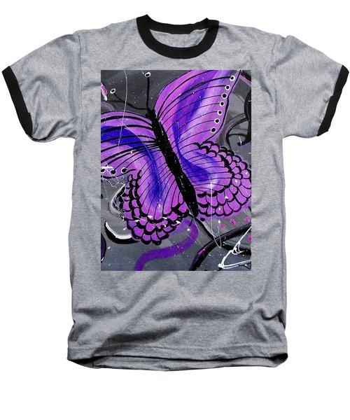 Lavendar Ripple Baseball T-Shirt