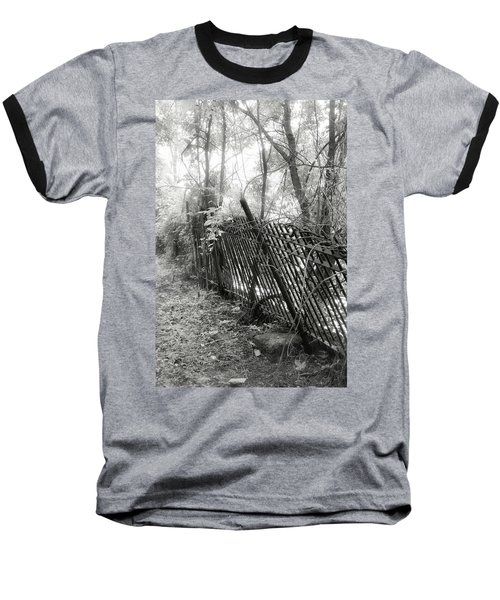 Baseball T-Shirt featuring the photograph Leaning Fence by Mary Almond