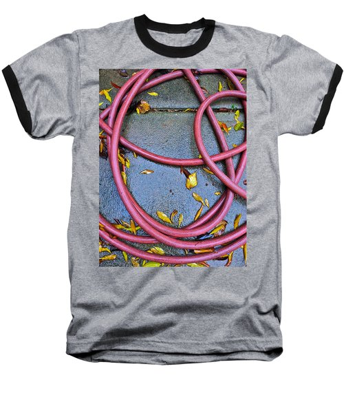 Baseball T-Shirt featuring the photograph Leaves And Hose by Bill Owen