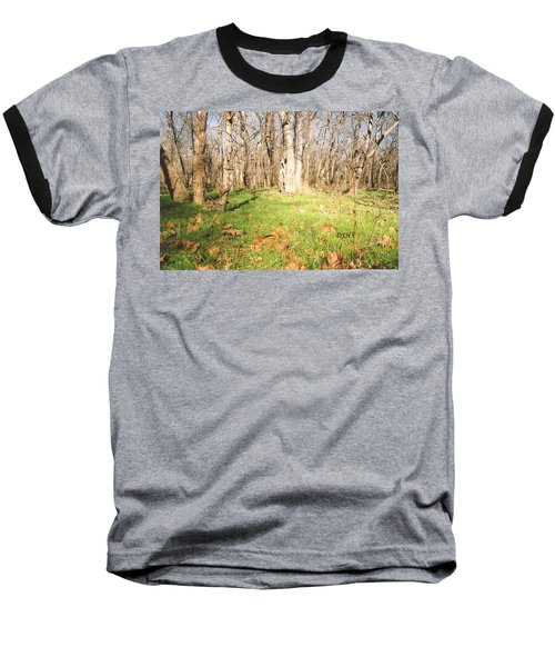Leaves In The Fall Baseball T-Shirt
