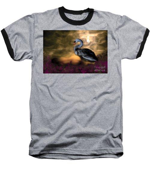 Leda And The Swan Baseball T-Shirt