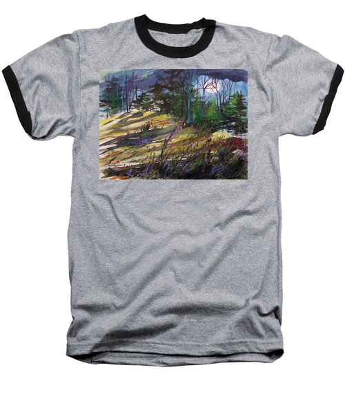 Baseball T-Shirt featuring the painting Light Against Indigo by John Williams