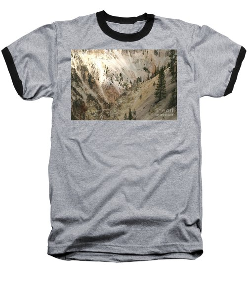 Light And Shadows In The Grand Canyon In Yellowstone Baseball T-Shirt by Living Color Photography Lorraine Lynch