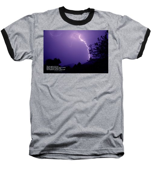 Lightning Over The Rogue Valley Baseball T-Shirt by Mick Anderson