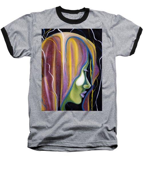 Lights II Baseball T-Shirt by Sheridan Furrer