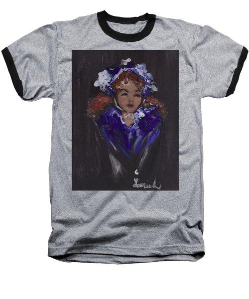 Lil Girl Blue Baseball T-Shirt