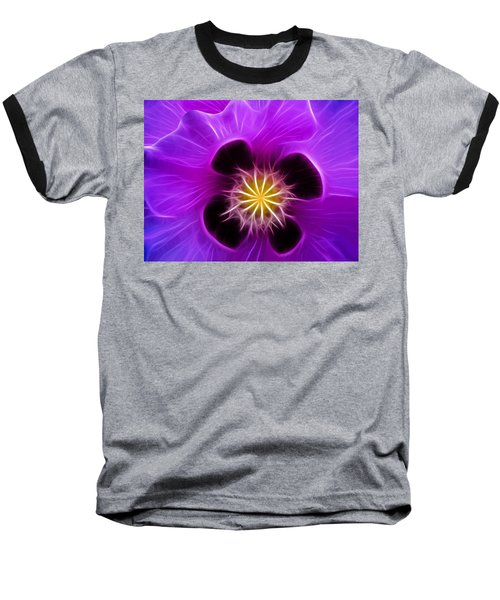 Lilac Poppy Baseball T-Shirt