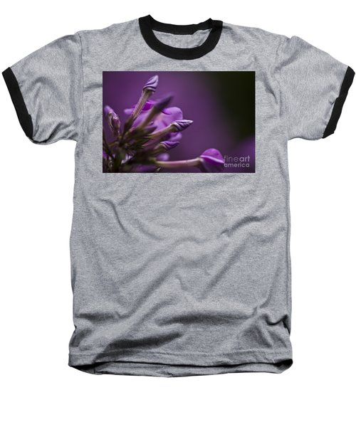 Baseball T-Shirt featuring the photograph Lilac Spirals. by Clare Bambers