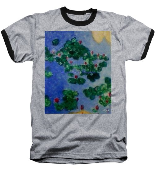 Baseball T-Shirt featuring the painting Lily Pond by Sonali Gangane