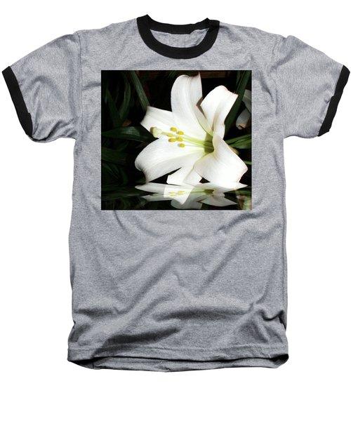 Lily Reflection Baseball T-Shirt by Pamela Hyde Wilson