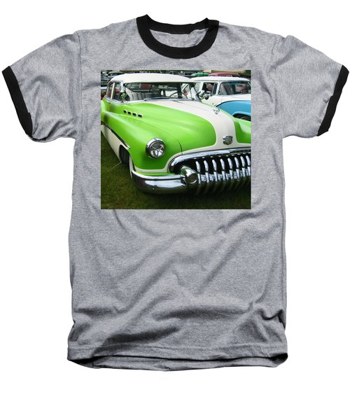 Baseball T-Shirt featuring the photograph Lime Green 1950s Buick by Kym Backland