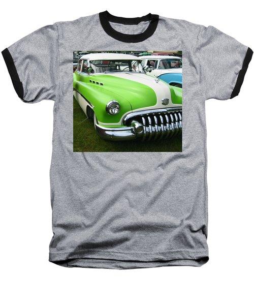 Lime Green 1950s Buick Baseball T-Shirt by Kym Backland
