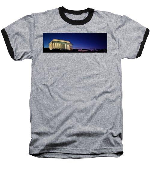 Lincoln Memorial At Sunset Baseball T-Shirt