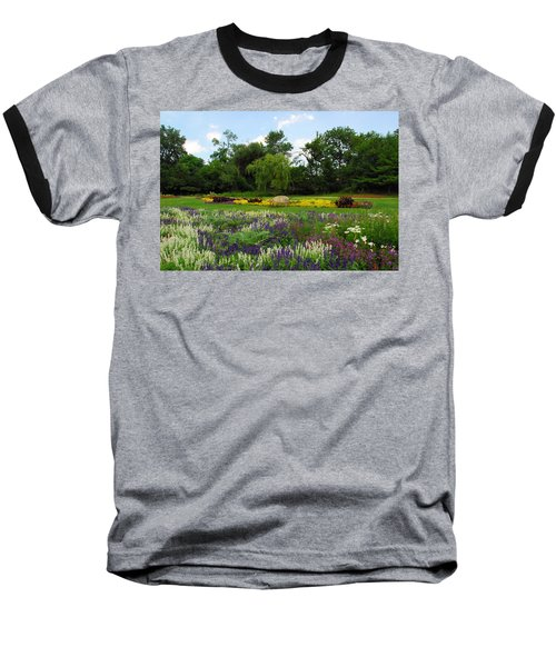 Lincoln Park Gardens Baseball T-Shirt by Lynn Bauer