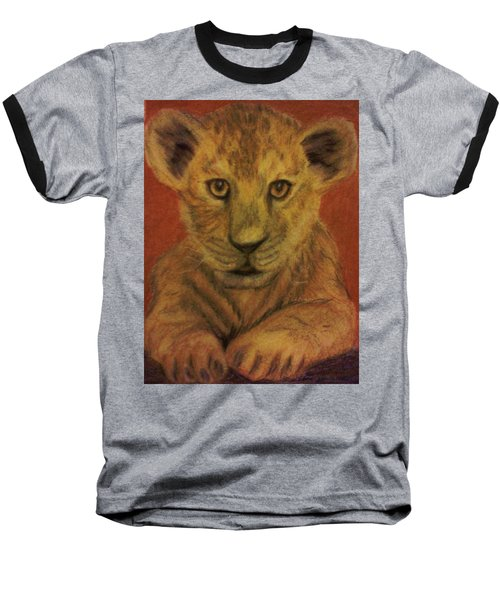Baseball T-Shirt featuring the pastel Lion Cub by Christy Saunders Church