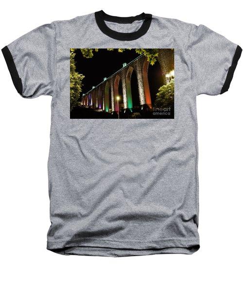 Lisbon Historic Aqueduct By Night Baseball T-Shirt