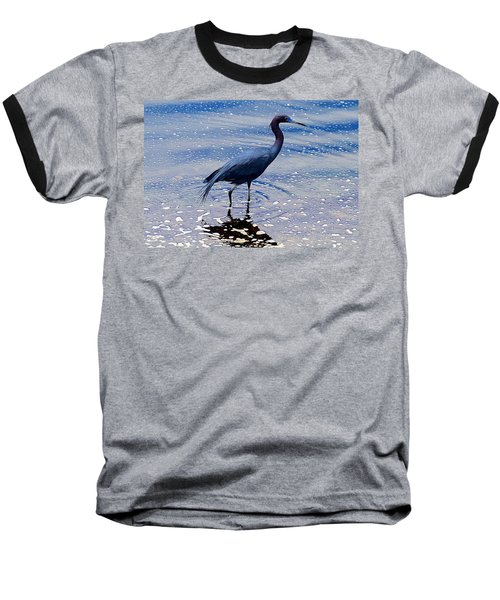 Baseball T-Shirt featuring the photograph Lit'l Blue by Elizabeth Winter
