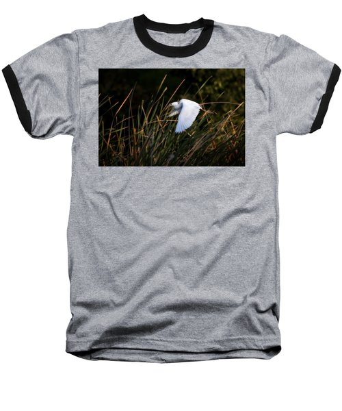 Baseball T-Shirt featuring the photograph Little Blue Heron Before The Change To Blue by Steven Sparks