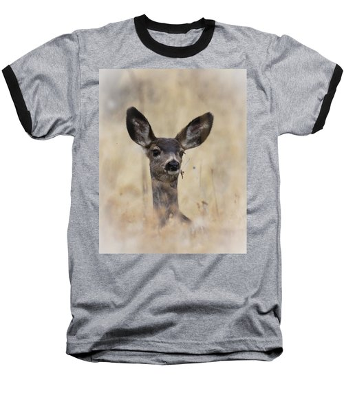 Baseball T-Shirt featuring the photograph Little Fawn by Steve McKinzie